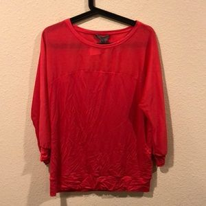 NWT Vince coral pink top blouse
