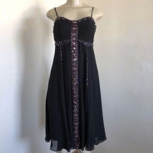 NWT Sue Wong Nocturne Dress Black Purple Jeweled