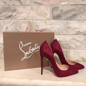 Christian Louboutin Shoes - Christian Louboutin Pigalle Follies 120 Red Cassis