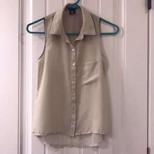 Wet Seal Button Down Short Sleeve Top