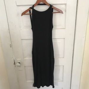 UO super low back knit dress
