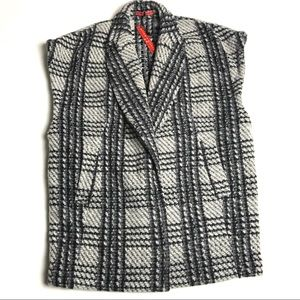 alice + olivia Zaide Wool Blend Oversize Vest