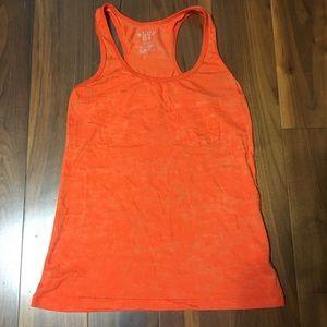 Burnout Orange Tank with pocket