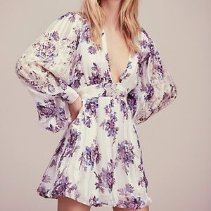 Free People x New Romantics Midnight bloom dress