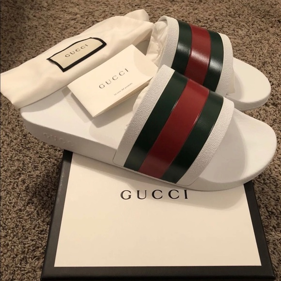 3ef71b377eecb Gucci Shoes - White Gucci flip flops