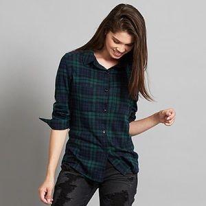 Plaid Knit Hacci Plaid Shirt