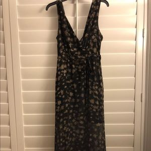 NEW Black BCBG Deep V Front and Low Back Gown