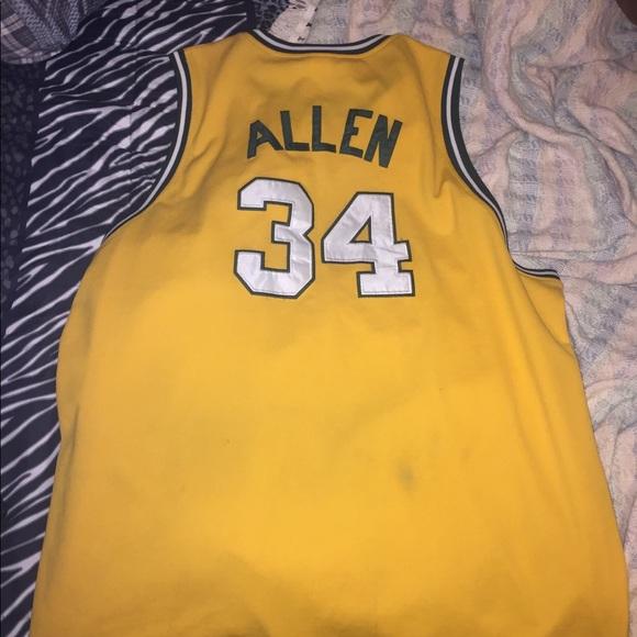 quality design 5c03d 8e36e Throwback NBA Jersey Autographed Ray Allen
