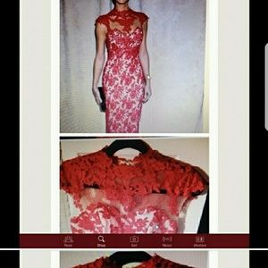 Dresses & Skirts - (Reposh) Absolutely Beautiful Red Lace Dress.