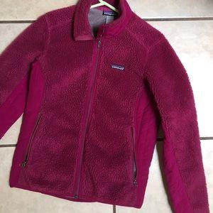 Patagonia fleece jacket pink size medium vintage