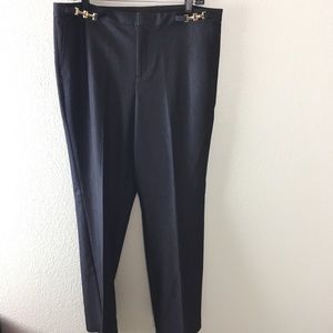 Dana Buchman gold hardware dress pants trousers