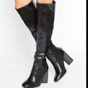 Free People  Patchwork otk Boots