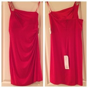Cache Red off the Shoulder Dress sz 14