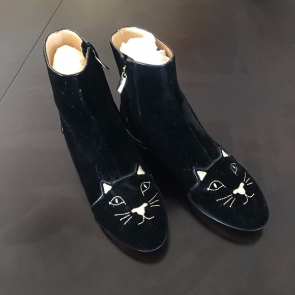 """Charlotte Olympia Shoes - New Charlotte Olympia """"Puss in Boots"""" ankle boots"""