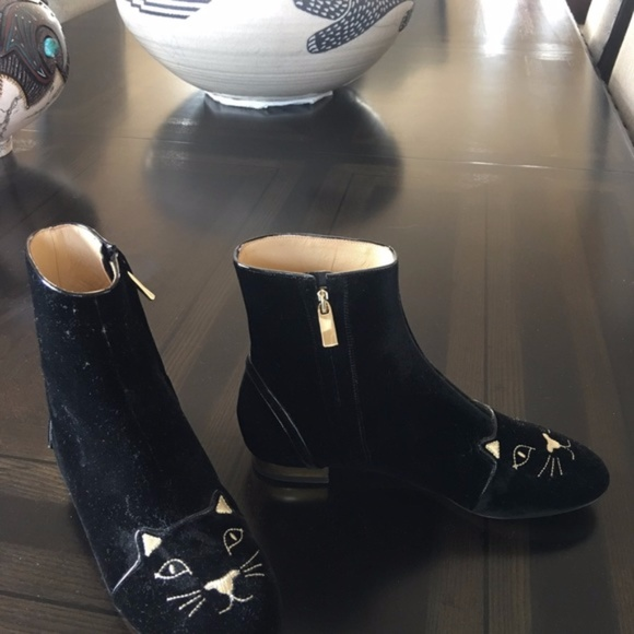 """Charlotte Olympia Shoes - Charlotte Olympia """"Puss in Boots"""" ankle boots"""