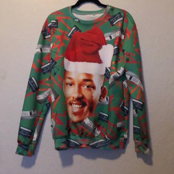 Will Smith Christmas Sweater.Sale Ugly Christmas Sweater Will Smith