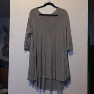 ‼️❤️ SALE ❤️‼️  altar'd state tunic grey swing top