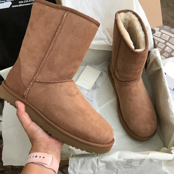 ccadf409cec UGG AUTHENTIC WOMENS CHESTNUT BOOTS SZ 10 New NWT