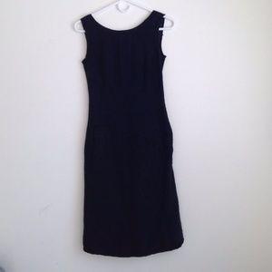 Moschino Cheap and Chic tweed boucle sheath dress