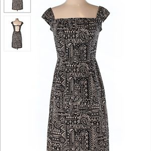 Anna Sui Casual Dress Size 4 Black And White