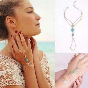 Jewelry - New~ Boho Turquoise Chain Bracelet