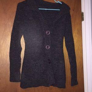 Sweaters - Dark gray Cardigan - Sweater