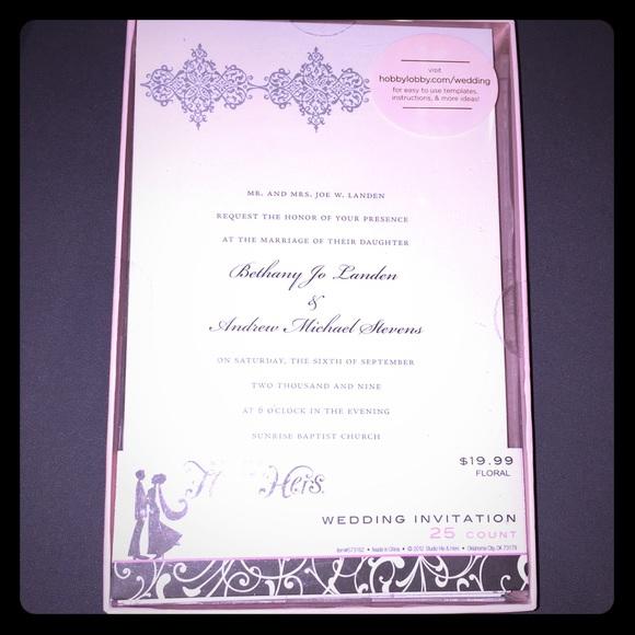 Wedding Invitations Nwt