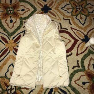 Ralph Lauren reversible quilted fur vest