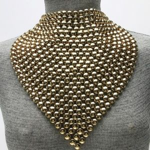 Jewelry - Metal Bib Choker Necklace