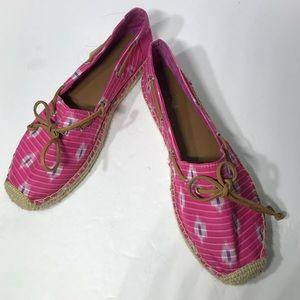 Sperry Espadrilles Katama Fuschia Ikat Pink 8.5M