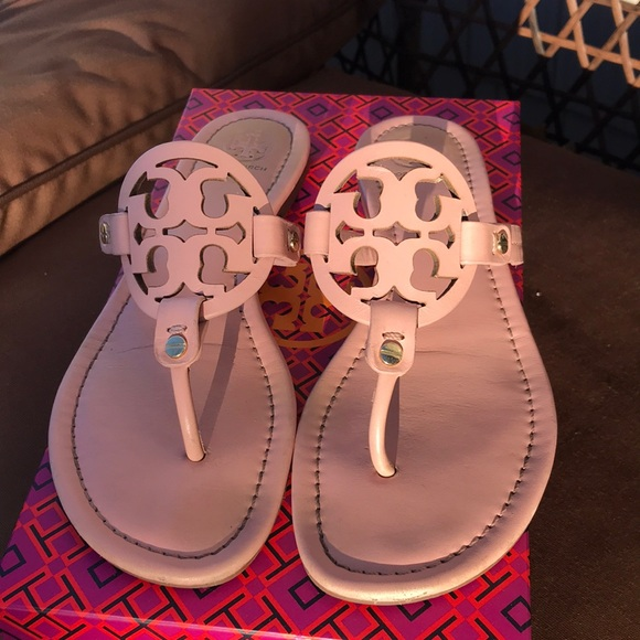 8f9d6587144ded Tory Burch Miller Sandals in Clay Pink Leather 8.5.  M 5a1eb3c7bf6df53c811594c5