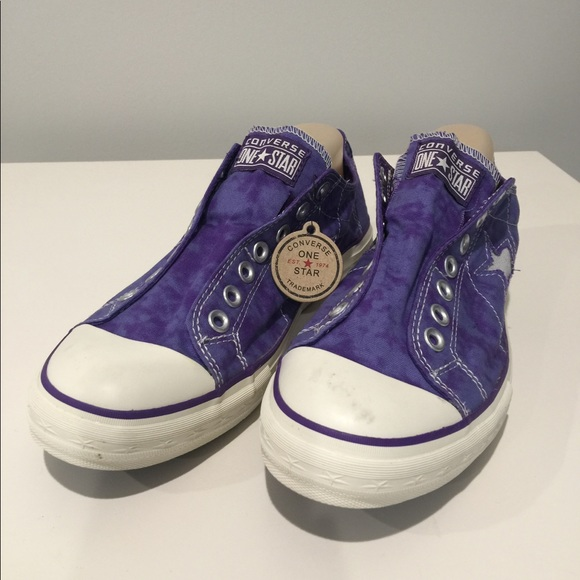 81382db1d8d5 Converse Shoes - NEW Converse Purple Tie Dye Slip On Sneakers