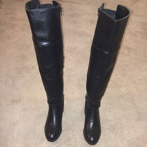 SHOE DAZZLE WOMENS TALL OVER THE KNEE BOOTS.