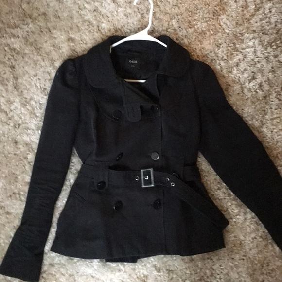 1846ed1e210 Black Women s Short Belted Pea Coat from London! M 5a1ebcfba88e7d254115ebd4