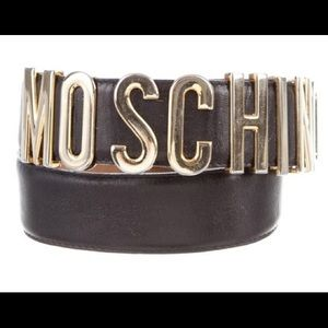 Moschino Calfskin leather belt