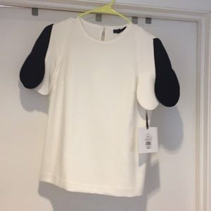 Victoria Beckham for target black and white top