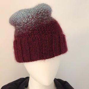 Anthropologie Eugenia Kim Handknit Hat metallic