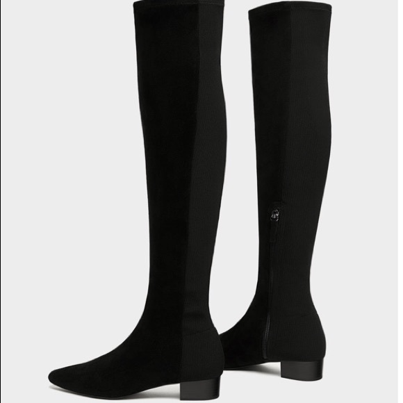eb7bc85f347 Zara BARELY USED over the knee flat boots. M 5a1ec6912ba50a6b8315f0fd