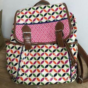 Handbags - Fun laminated cotton backpack NWOT