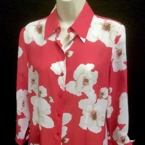 Shirt by Emma James Size 8 Floral Design