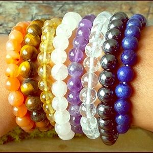 Amethyst Natural Crystal Bead Bracelet