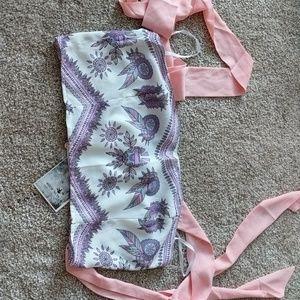 Very unique shoulder tie crop top