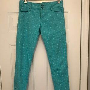 Lilly Pulitzer cropped polka dot jeans
