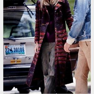 Free People Every Minute Wool Coat XS with FP hat