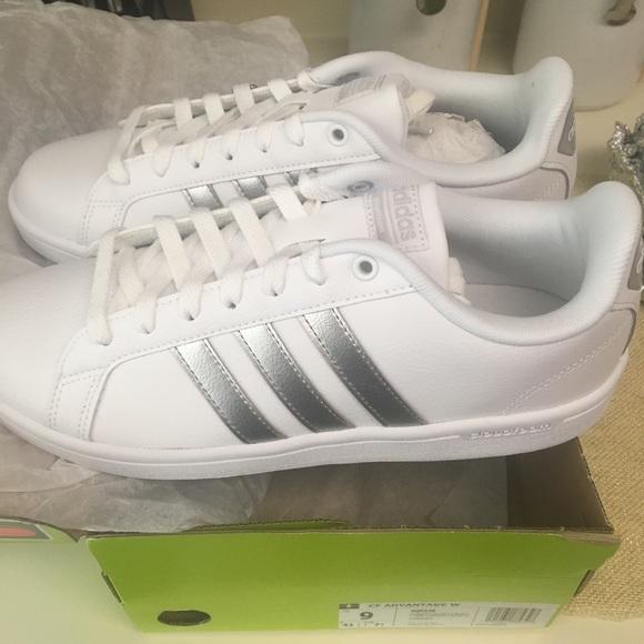 adidas Shoes   Adidas Advantage Silver