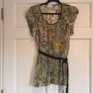 Anthropologie brand Plenty sheer blouse