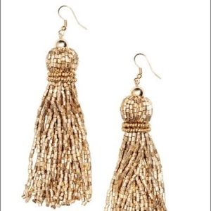 H&M Gold Tassel Drop Earrings