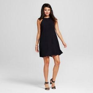 Xhilaration Scallop High-neck Shift Dress M