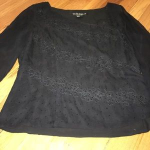 Very pretty tie up beaded top excellent condition.