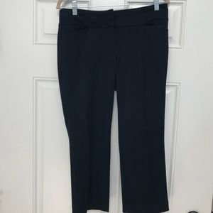 Express Editor Capri Black Pants